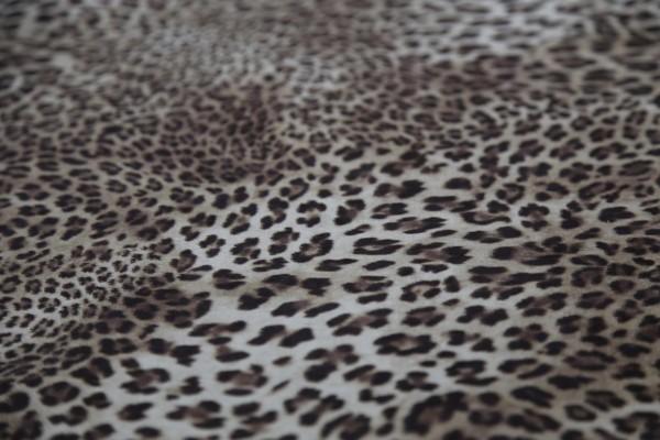 Polyester Mikrofaser Feincord Bedruckt Leopardenmuster Meterware