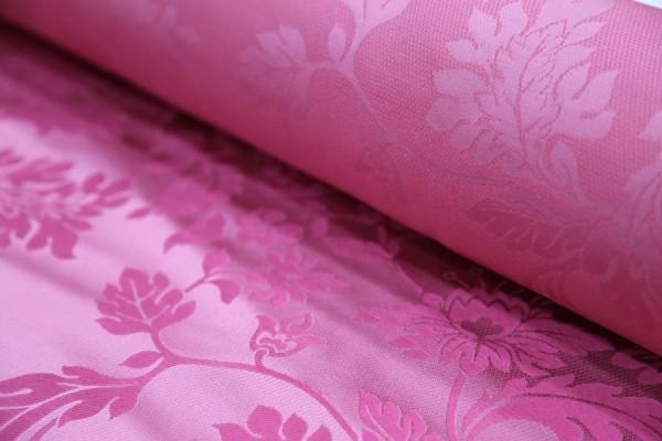 Seide Baumwolle Jaquard Pink Meterware